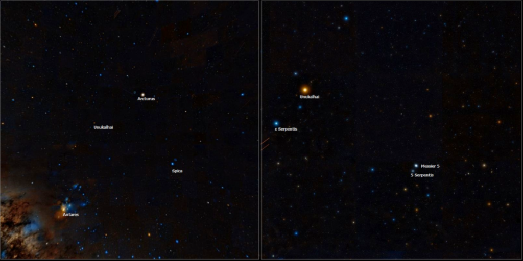 m5 location,5 serpentis,arcturus,antares,spica