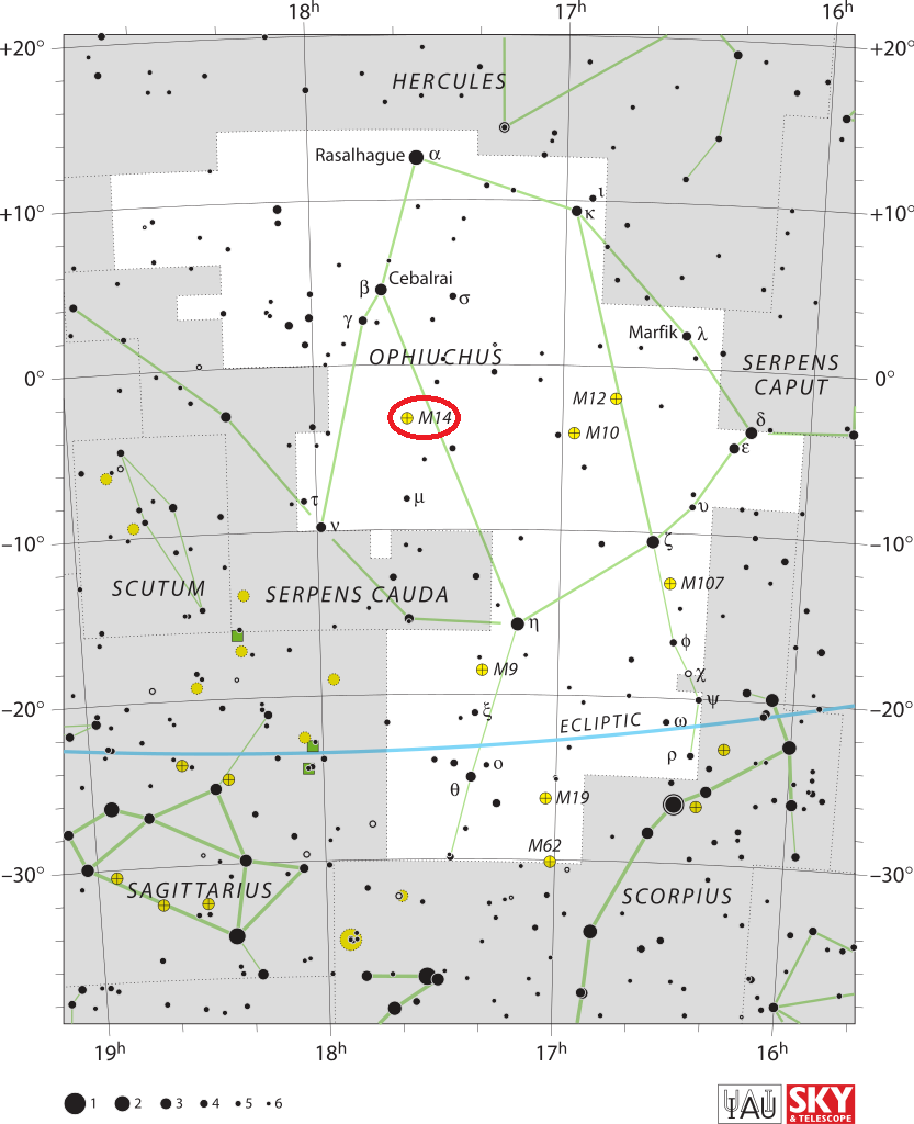 m14 location,find messier 14