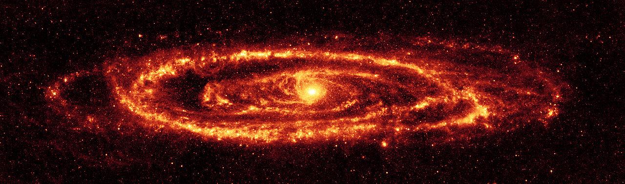 andromeda galaxy infrared