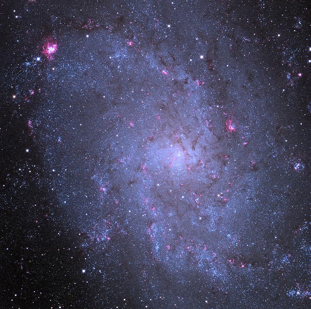 messier 33,m33,triangulum galaxy,spiral galaxy