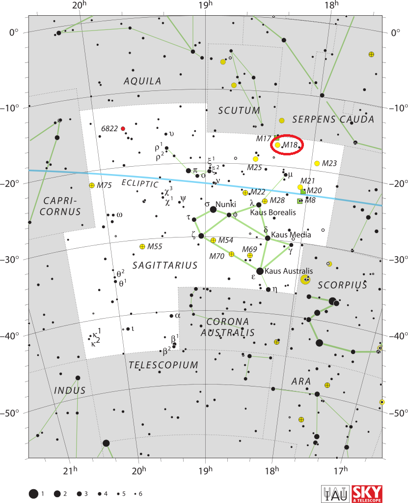 m18 location,find messier 18