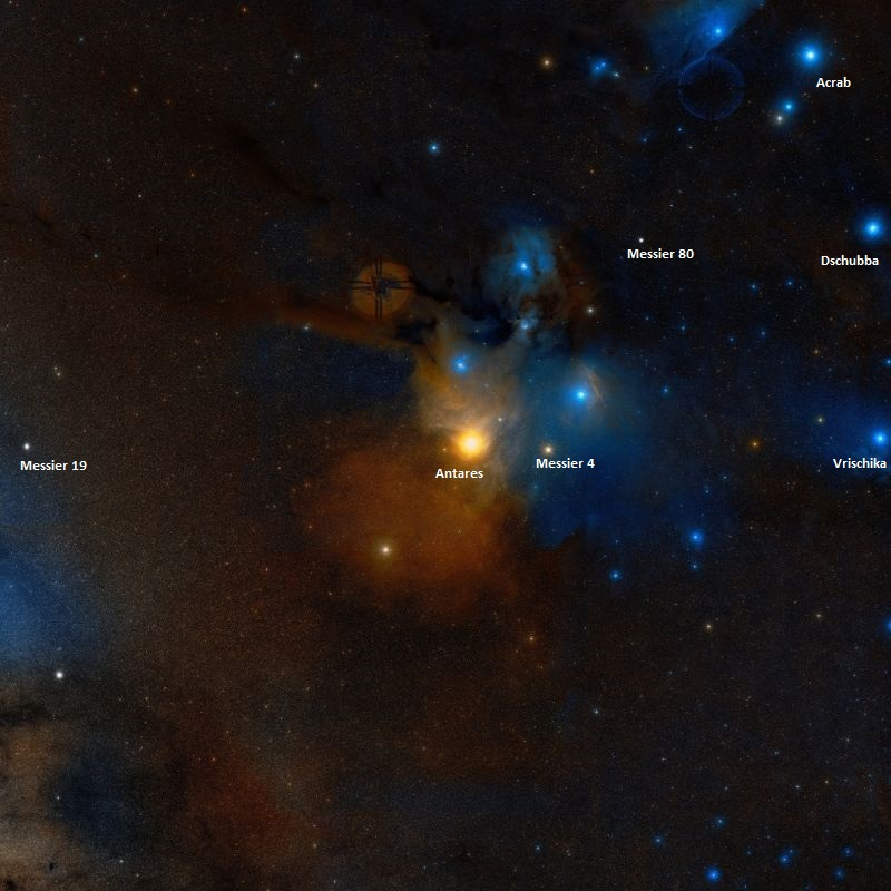 messier 19,antares