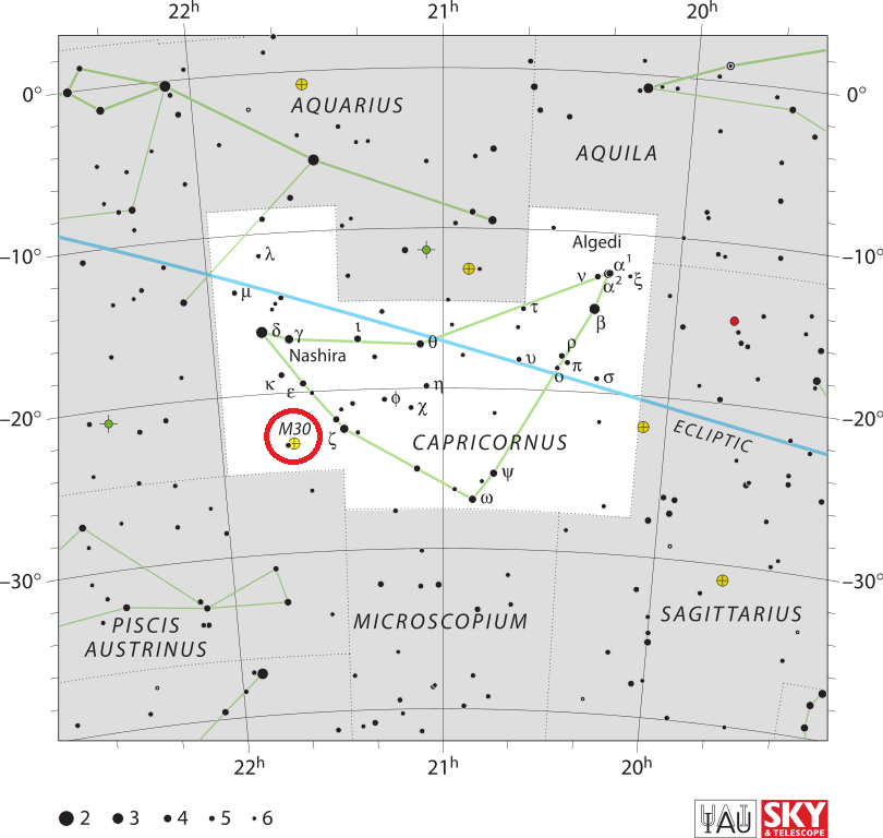 m30 location,find messier 30