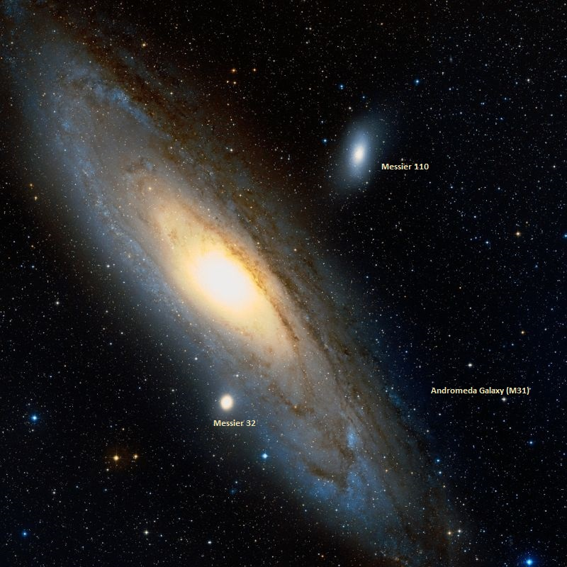 andromeda galaxy,m31,m32,m110,satellite galaxies