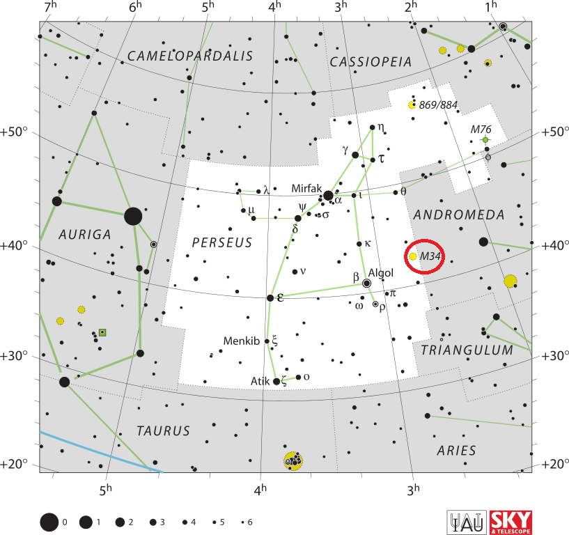 m34 location,find messier 34
