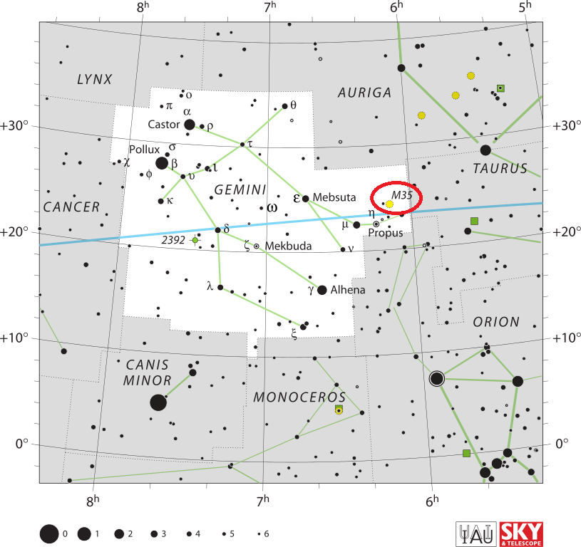m35 location,find messier 35