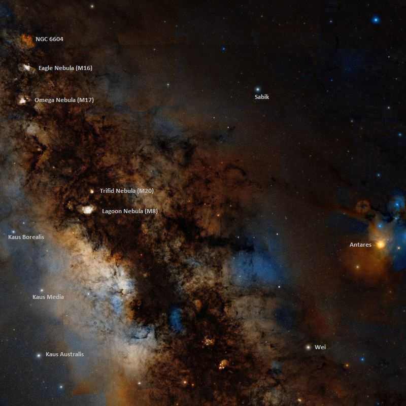 messier 17 location,messier objects in sagittarius