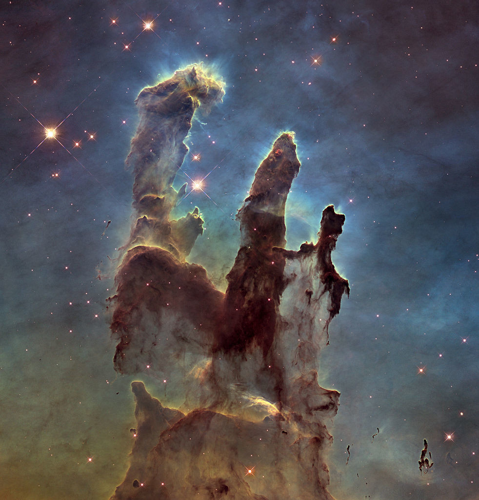 pillars of creation,messier 16,eagle nebula
