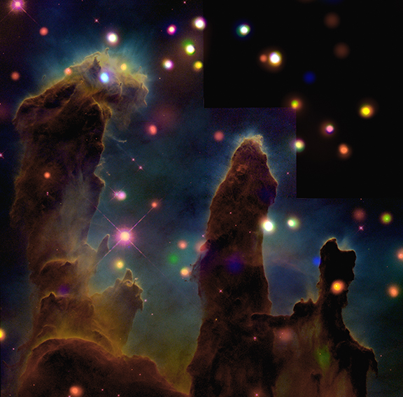 pillars of creation x-ray