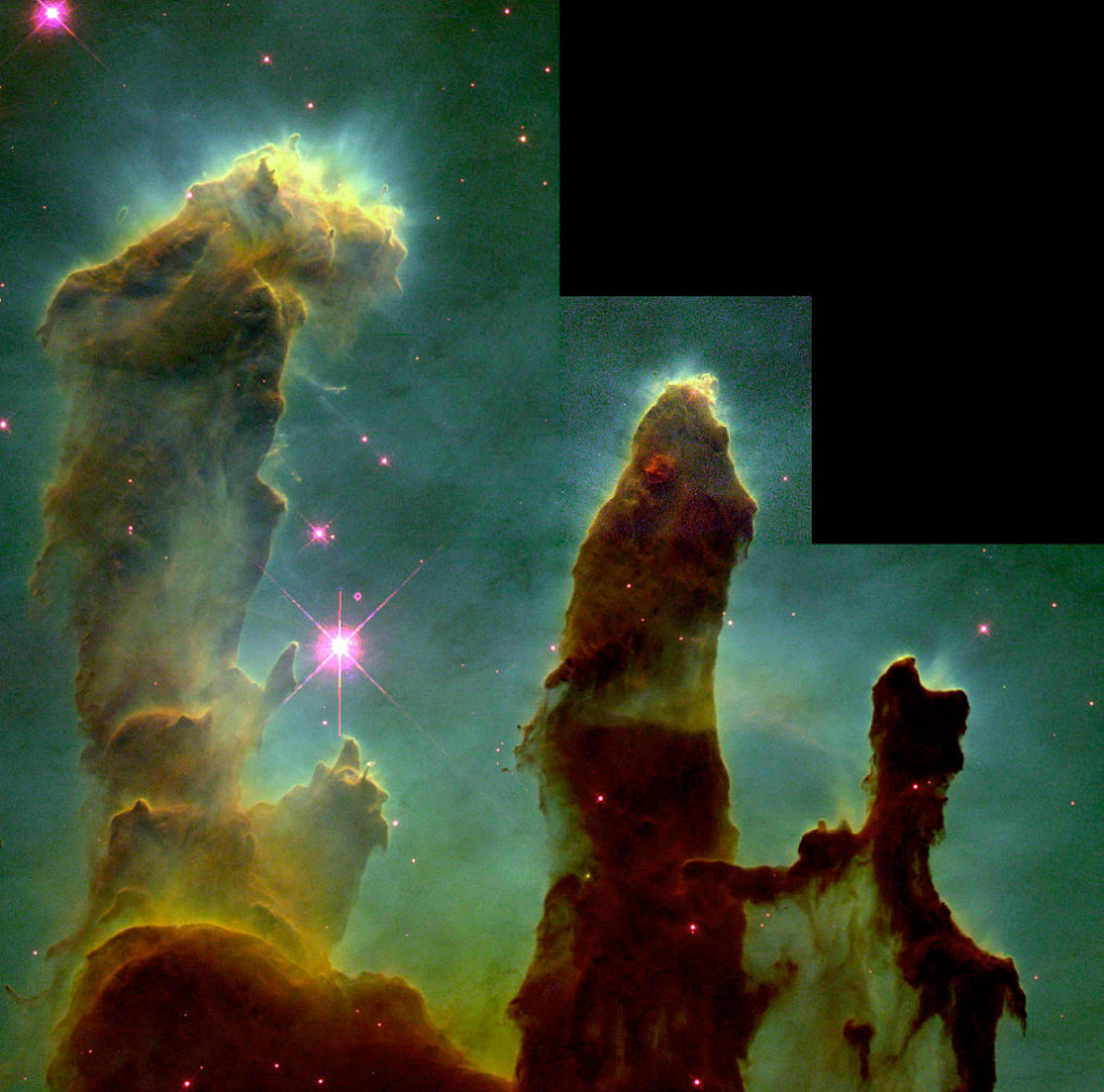 pillars of creation,stellar nursery,eagle nebula
