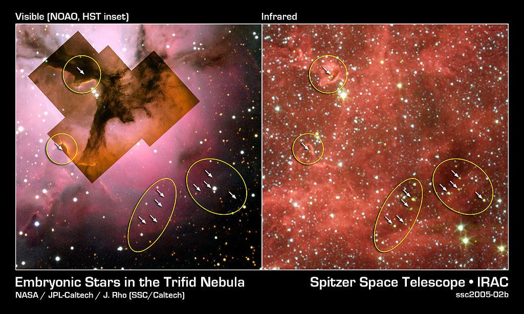 messier 20 stars,star-forming nebula