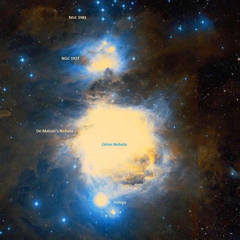 messier 43,ngc 1982,de mairan's nebula