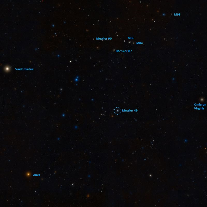 messier 49 position