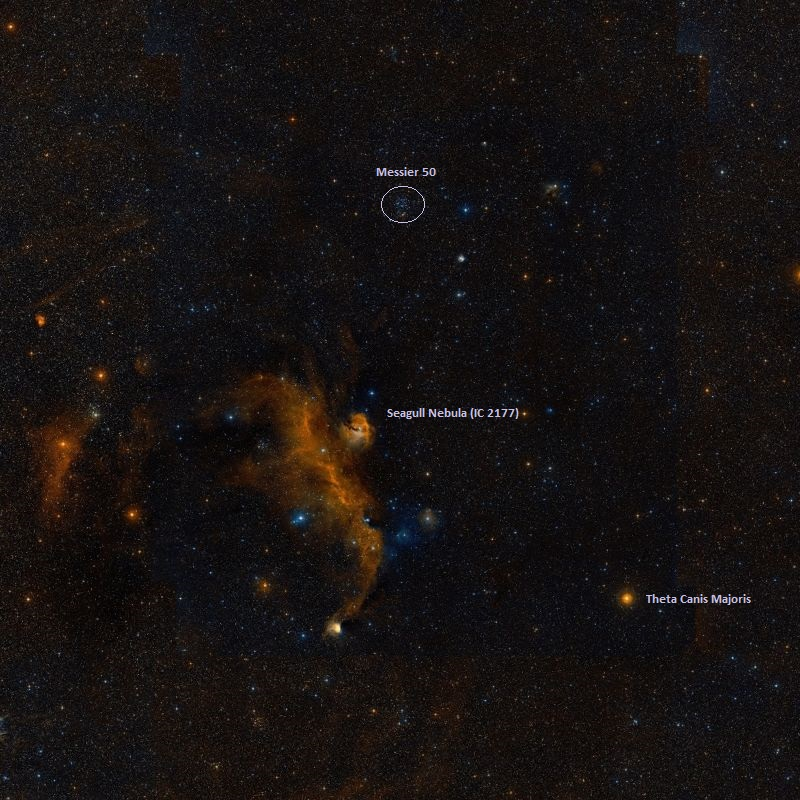 m50,messier 50,seagul nebula,ic 2177