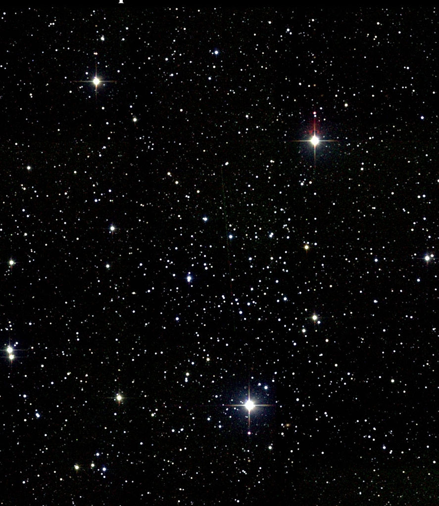 heart shaped cluster,messier 50