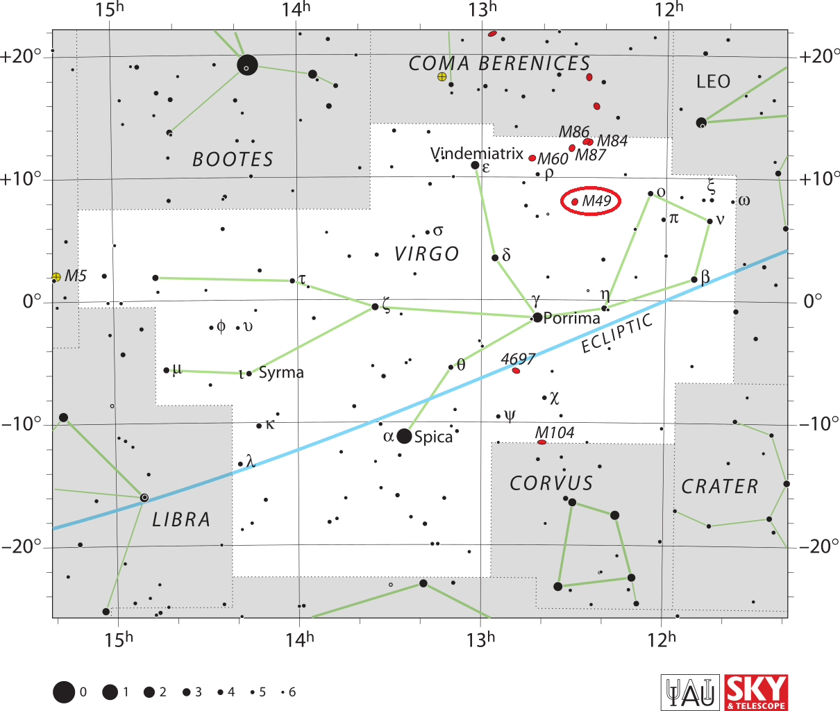 m49 location,where is messier 49,find m49 galaxy