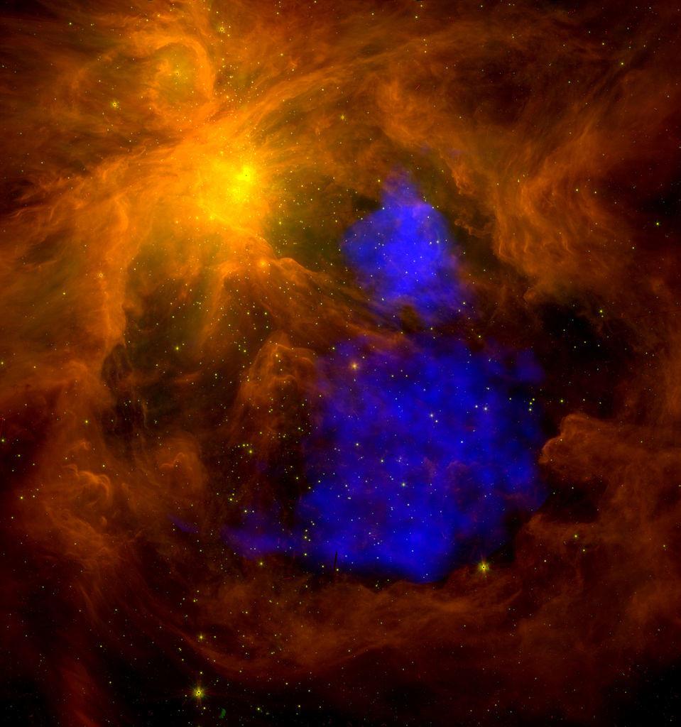 orion nebula x-ray,messier 42 spitzer