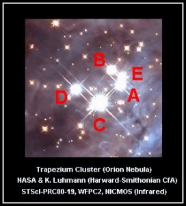 trapezium cluster,orion nebula cluster