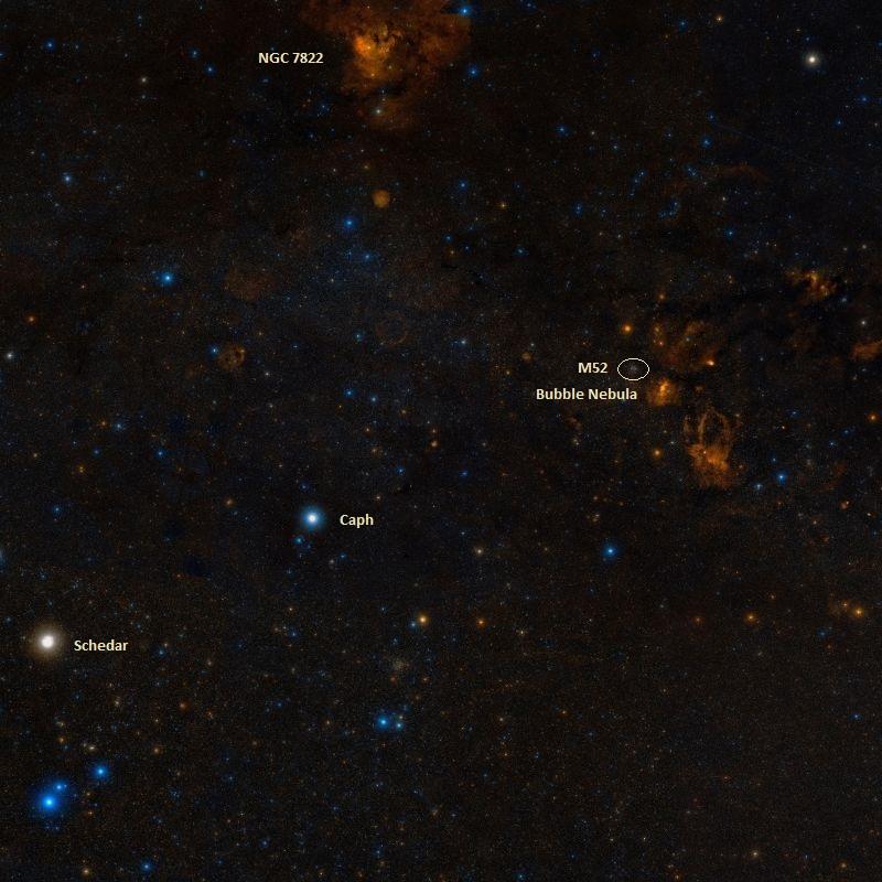 m52,bubble nebula