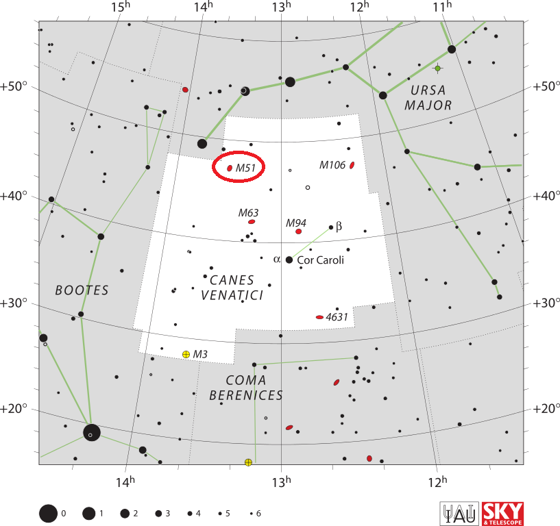 m51 location,where is whirlpool galaxy,messier 51 position,find whirlpool galaxy