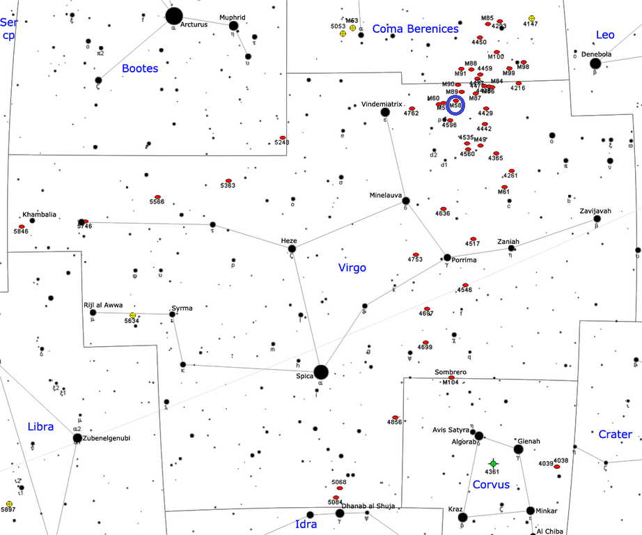 m58 position,find messier 58,m58 location,where is messier 58