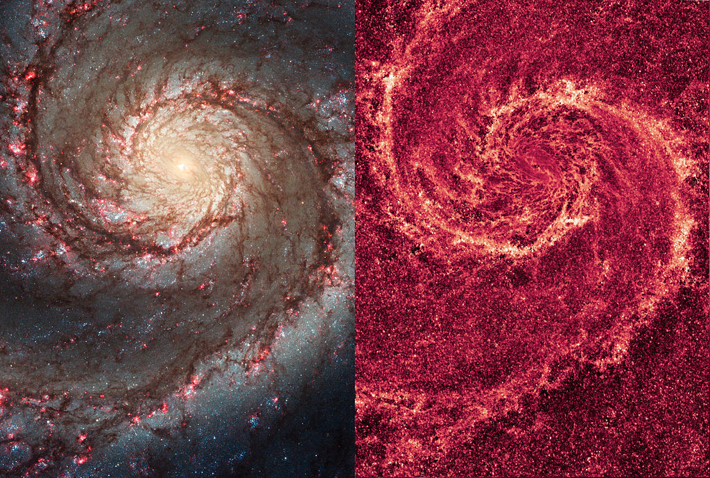 m51 hubble,whirlpool galaxy nasa image