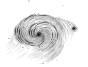 question mark galaxy,rosse's galaxy