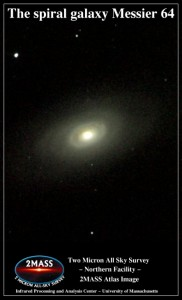 black eye galaxy,messier 64