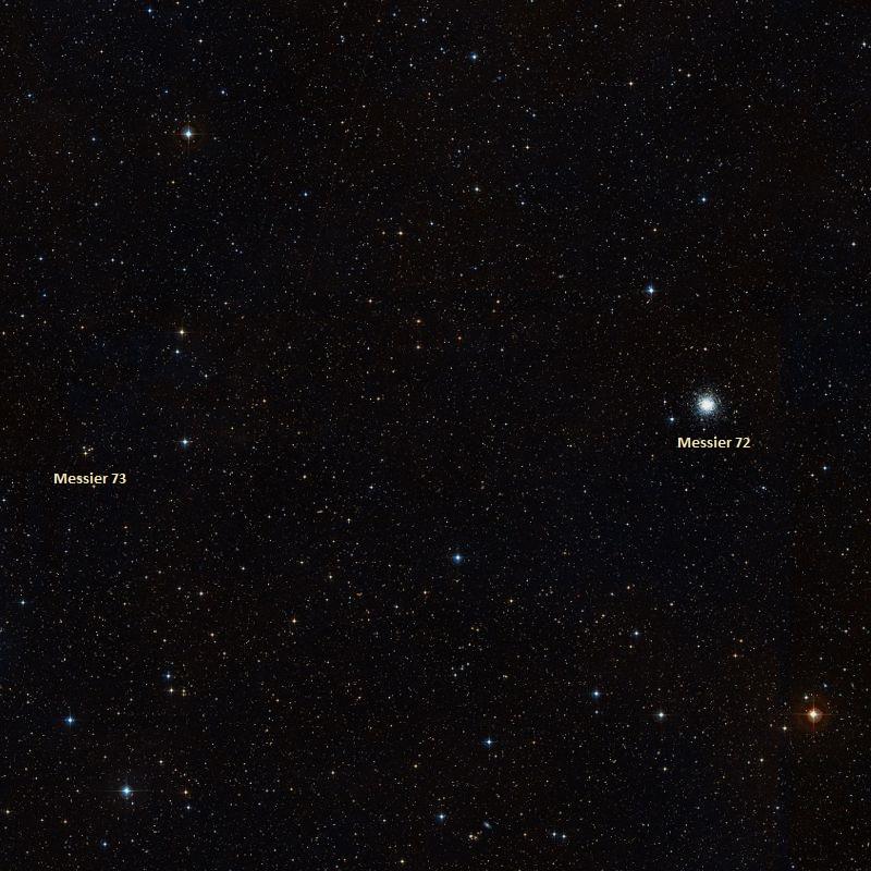 messier 72,messier 73,aquarius constellation