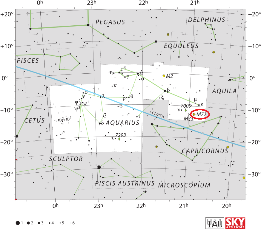 m72 location,find messier 72,where is m72