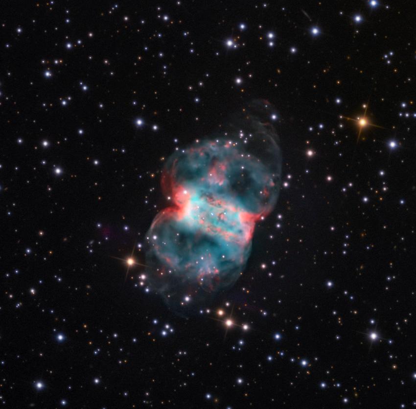 m76,little dumbbell nebula,planetary nebula
