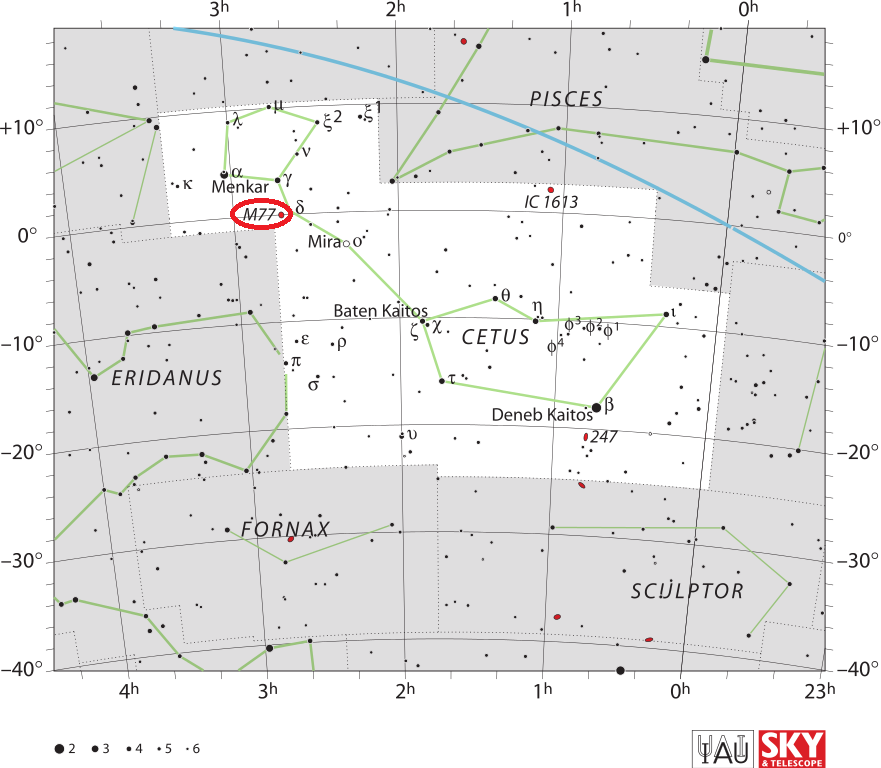 m77 location,cetus a location,where is messier 77,find m77
