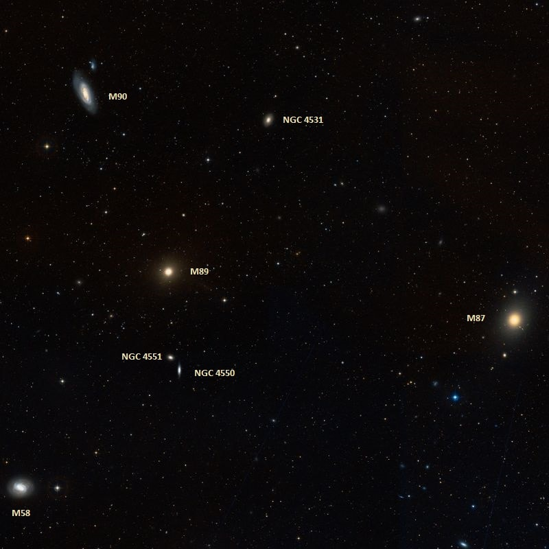 messier 89,m89 galaxy,virgo cluster
