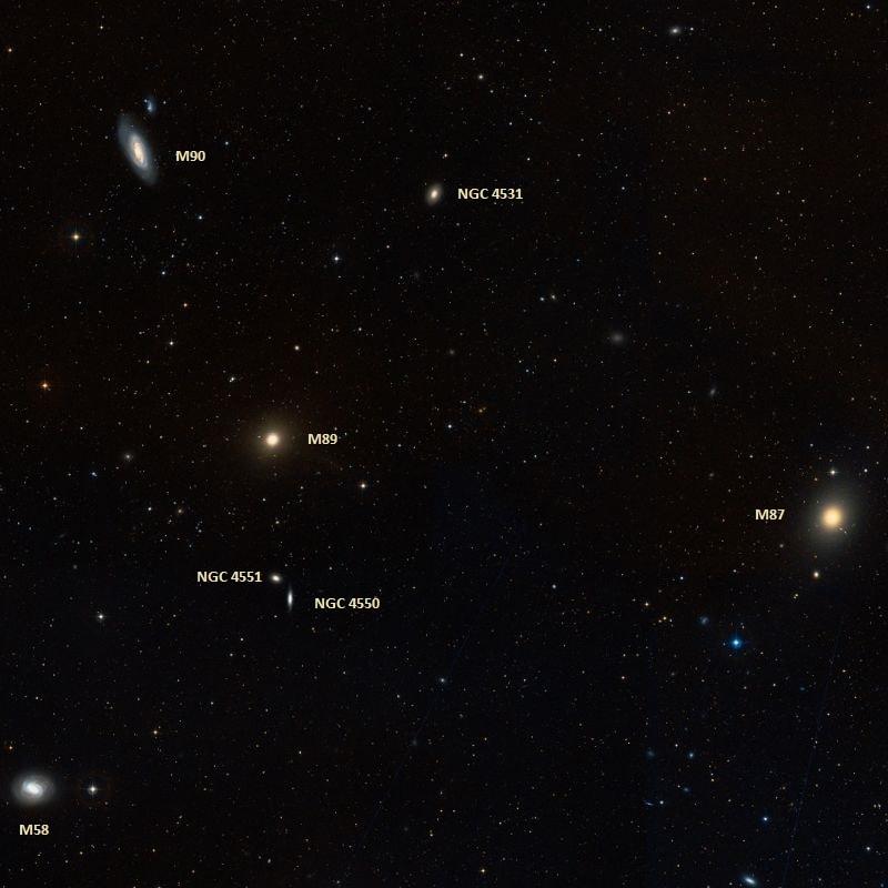 messier 89,m89 galaxy,virgo cluster