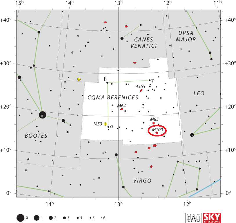 m100 location,where is messier 100,find m100 in the sky