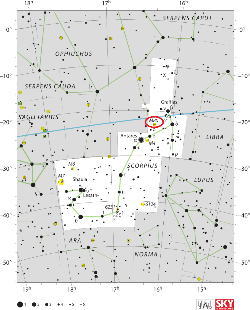 m80 location,find messier 80,where is m80
