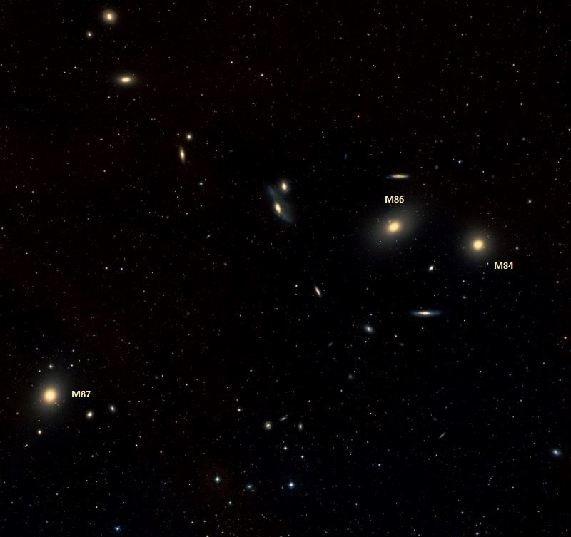 m84,m86,m87,virgo galaxies