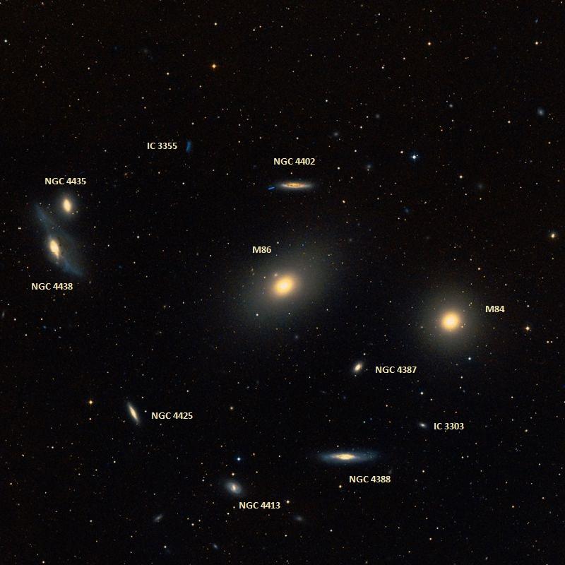 m84,m86,virgo cluster