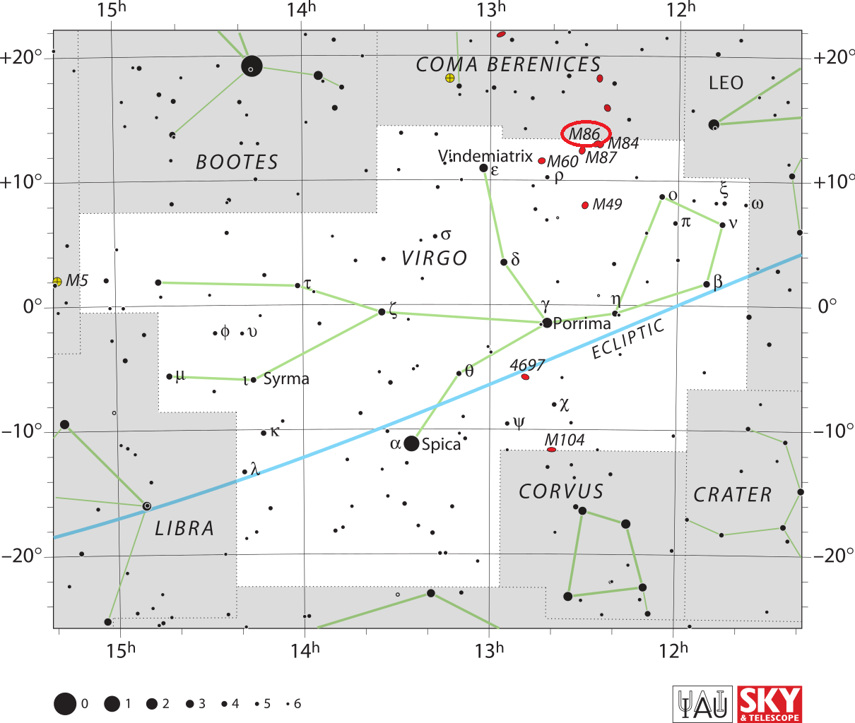 m86 location,find messier 86,where is messier 86