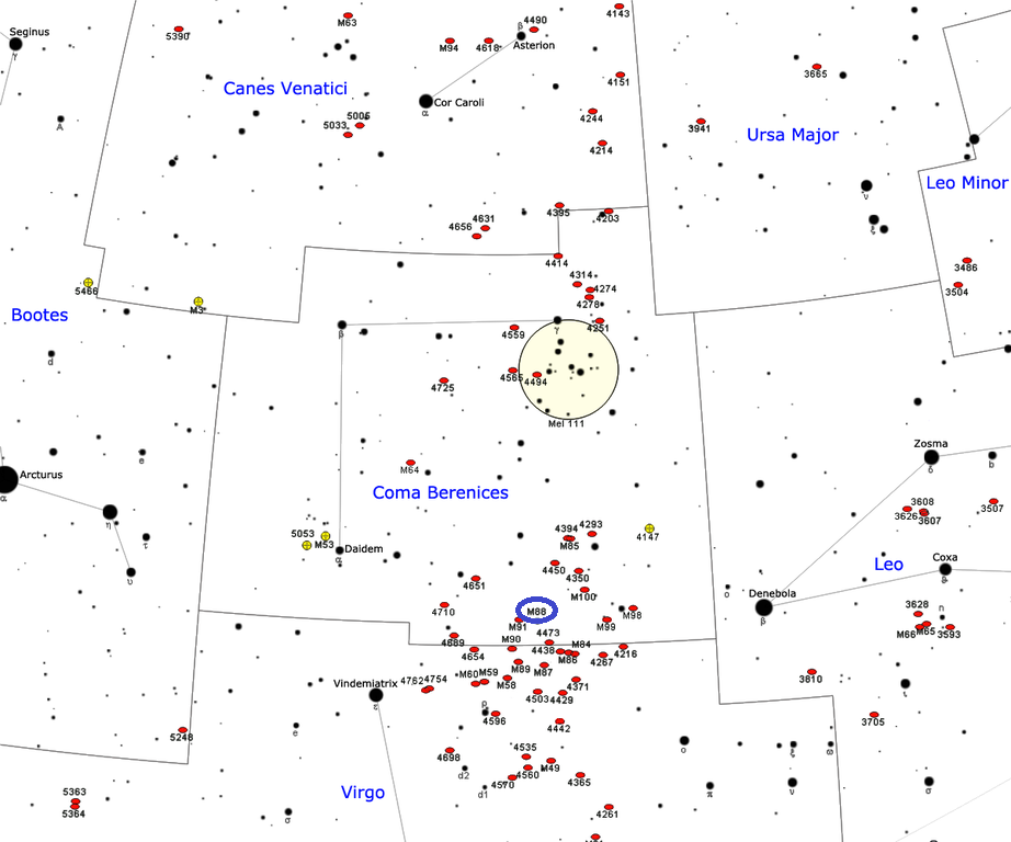 m88 location,find messier 88,where is messier 88