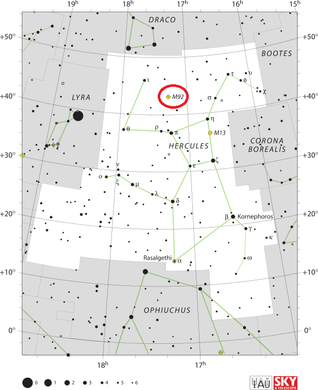 m92 location,find messier 92,where is messier 92