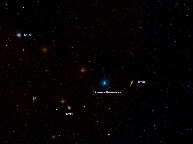 m98,m99,m100,spiral galaxies