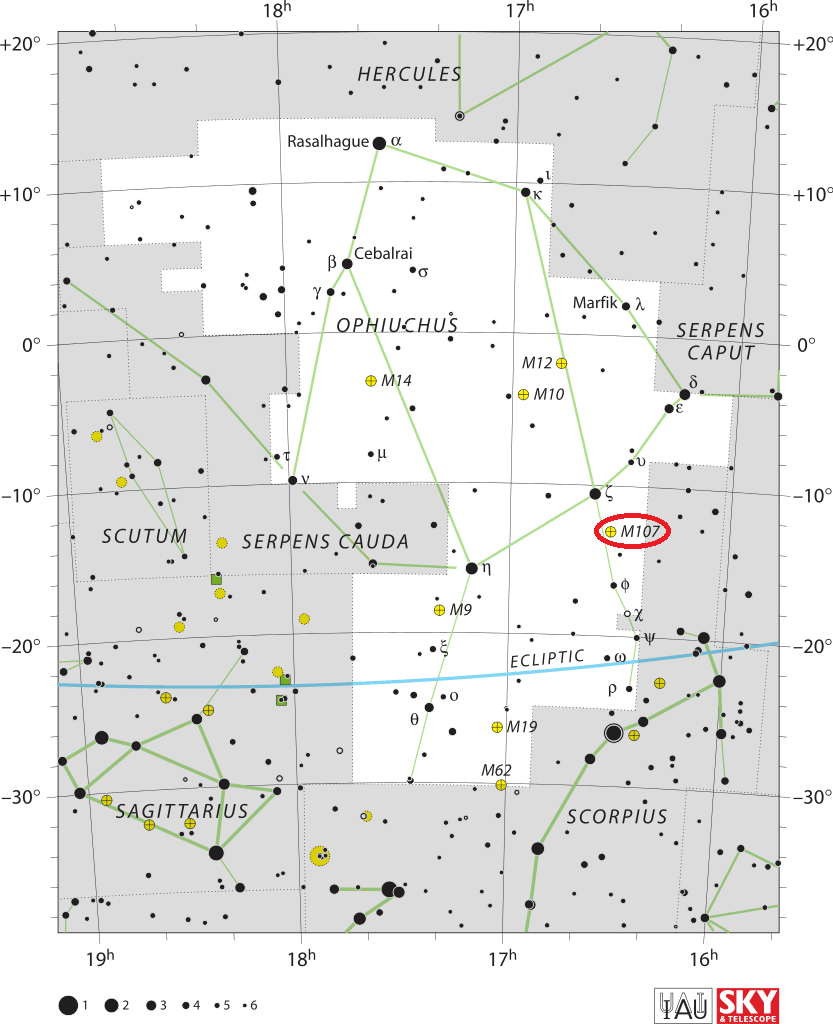 m107 location,find messier 107,where is messier 107
