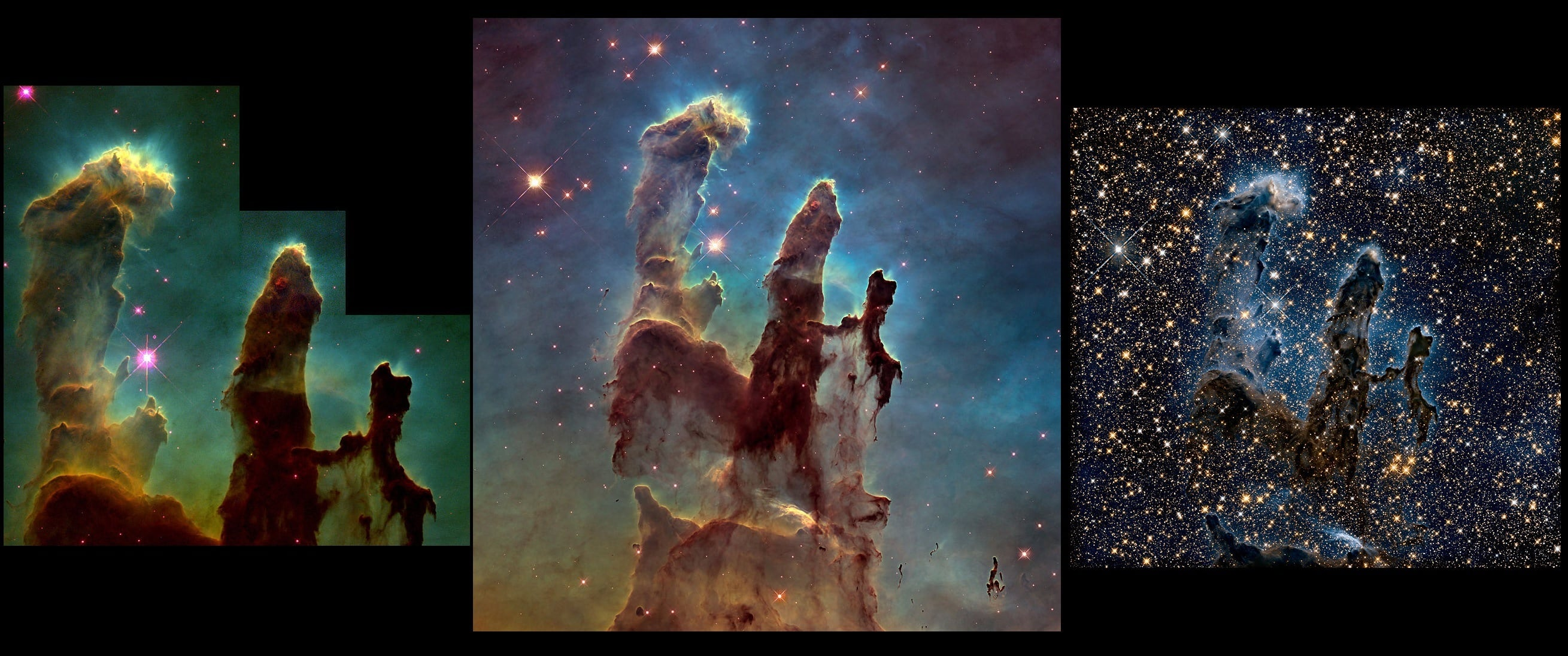 pillars of creation,eagle nebula,m16