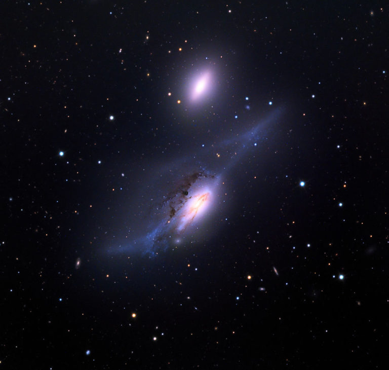 ngc 4435,ngc 4438, interacting galaxies