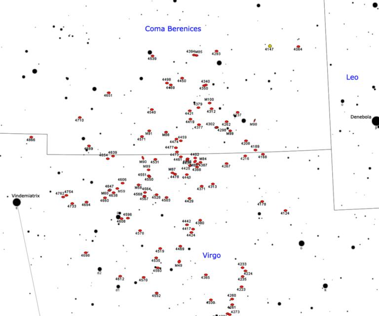 virgo cluster galaxies map